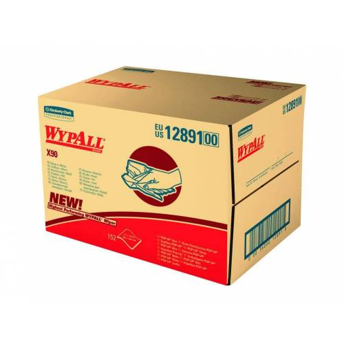 Wypall X90 12891 Doek Wit 2-laags In Draagdoos
