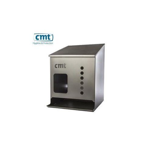 CMT Rvs Bezoekerjas-Coveralldispenser, Bovenklep, Uitgiftegleuf, 30X34