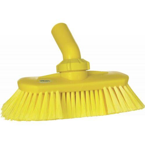 Vikan Hygiene 7067-6 Hoekverstelbare Borstel Watertoevoer Geel