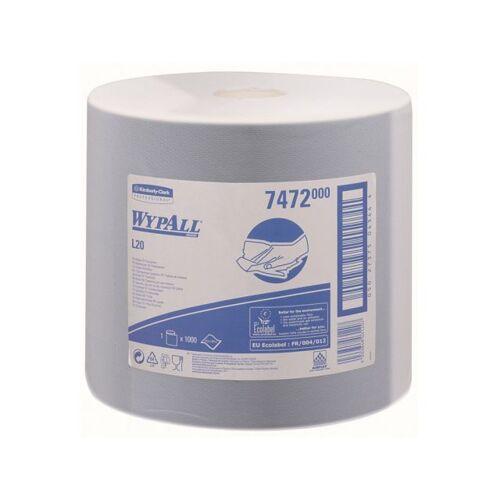Wypall L20 Poetsdoek Rol 1-laags Blauw 380m 38x23,5cm 1000 Doeken