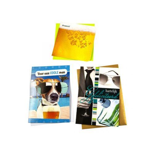 Paperclip Wenskaart Paperclip Navulset Verjaardag Man Set à 6 Kaarten