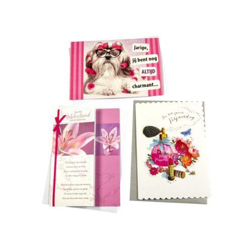 Paperclip Wenskaart Paperclip Navulset Verjaardag Vrouw Set à 6 Kaarten