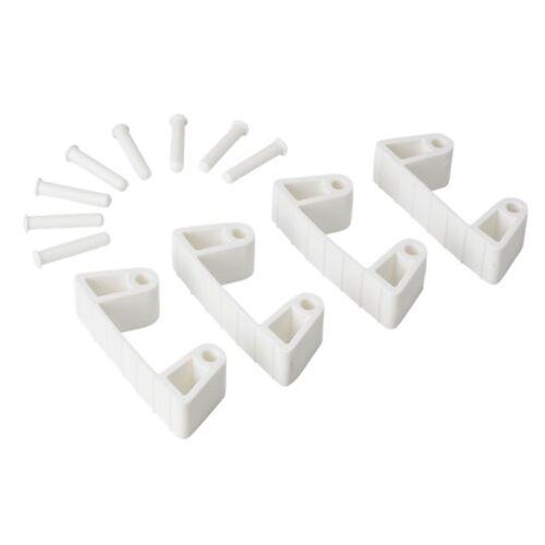 Vikan Hygiene 1019-5 Aanvulset Klemmen Wit Full Colour 4 Klemmen/8 Pinnen