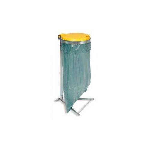 Orbis Afvalverzamelaar 70/120 Liter H 980 Mm Standaard Verzinkt Deksel Geel