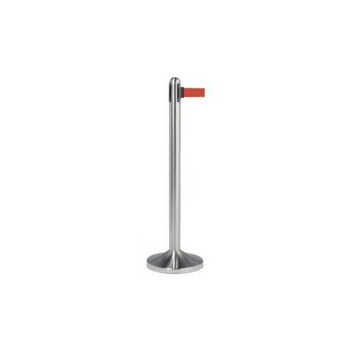 Securit Afzetpaal Securit RVS Met Rolband 210cm Rood