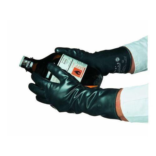 Kclby Honeywel Handschoen Butoject 898 Zwart Butyl Met Rolrand Maat 8