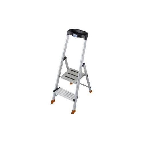 Discountoffice Trapladder Eenzijdig 2 XXL Treden Balk L 1m Aluminium