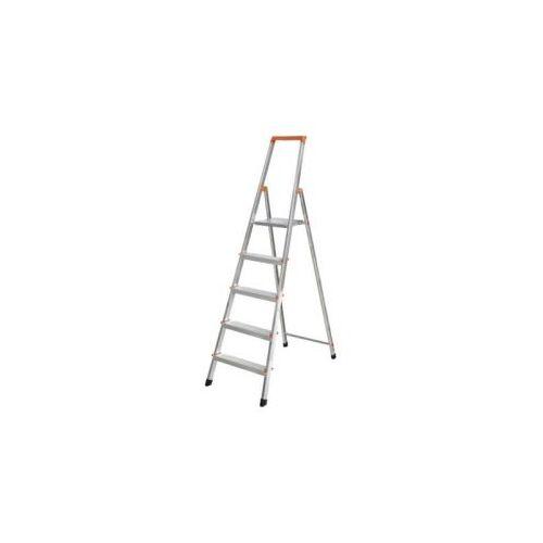 DiscountOffice Lichte Boktrappen Aluminium Platform Bxd 25x25cm 5treden H 1,05m