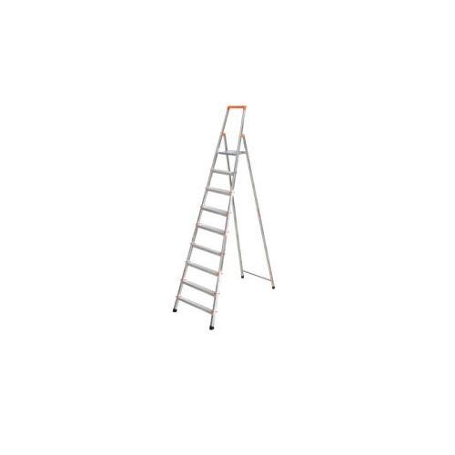 DiscountOffice Lichte Boktrappen Aluminium 6treden Platform 25x25cm H 1,25m