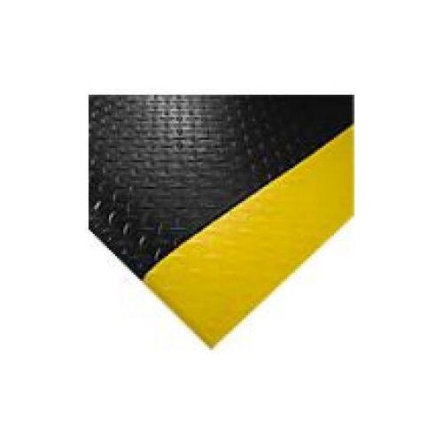 Discountoffice Werkplekmat LxB 1500x900mm PVC Zwart/geel