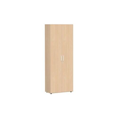 Discountoffice Kantoorkast Met Openslaande Deuren HxBxD 2160x800x420mm 5xhouten Vloer