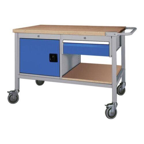 DiscountOffice Werkplaatswagen 859x1200x750mm Werkblad 40mm Draaideur 1lade