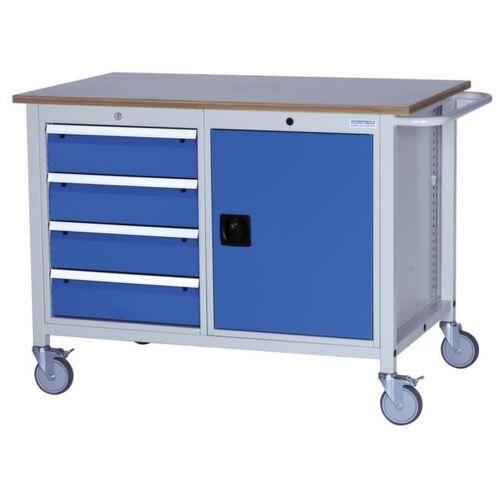 DiscountOffice Werkplaatswagen 935x1250x750mm Multiplex 25mm Draaideuren 4laden