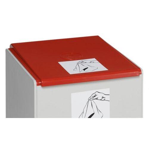 DiscountOffice Deksel Voor Afvalverzamelaar 60L Rood