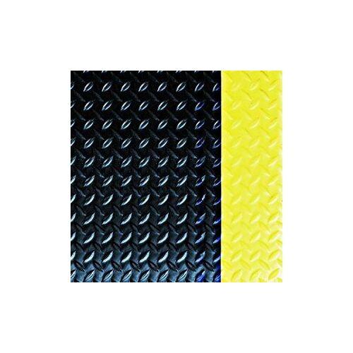 Discountoffice Werkplekmat LxB 900x600mm PVC Zwart/geel