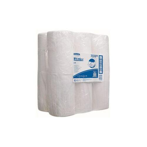 Kimberly-Clark  Wypall L10 Extra Poetsdoek Rol 1-laags Wit 200 Doeken