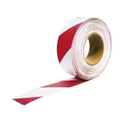 Discountoffice Tape Rood/wit Band LxB 18 3mx50mm Met Antislip-eigenschappen