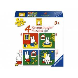 Ravensburger Puzzel Ravensburger Nijntje 4x Puzzels 6+9+12+16 Stuks