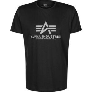 Alpha Industries Basic Reflective Print  heren T-shirt zwart maat S