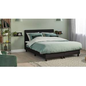 Beter Bed Basic Boxspring Cisano Vlak Met Gestoffeerd Matras 160x210  - zwart