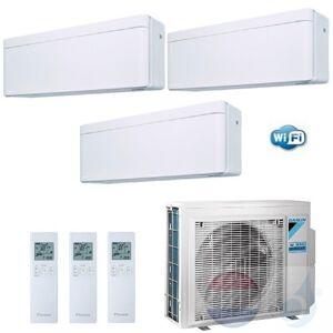Daikin Trio Split 2.5+2.5+5.0 +6.8 kW Stylish Wit Air Conditioner WiFi R-32 2xFTXA25AW +FTXA50AW +3MXM68N A++/A+ 9+9+18
