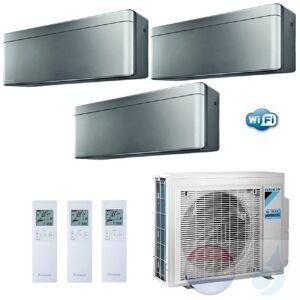 Daikin Trio Split 2.5+2.5+5.0 +6.8 kW Stylish Zilver Conditioner WiFi R-32 2xFTXA25AS +FTXA50AS +3MXM68N A++/A+ 9+9+18