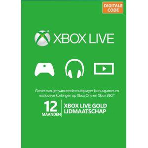 Microsoft Xbox Live Gold abonnement 12 maanden  Code / CD Key