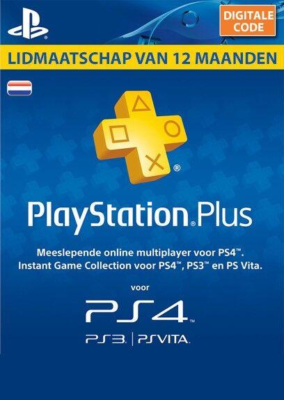 Image of Sony Playstation Plus 12 Maanden/1 Jaar Lidmaatschap NL
