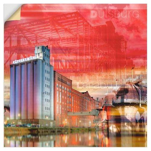 Artland artprint »Duisburg Skyline Collage I«  - 26.99 - rood