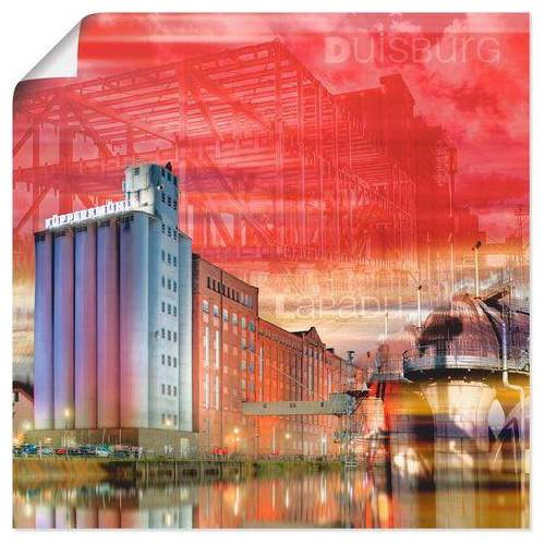 Artland artprint »Duisburg Skyline Collage I«  - 20.99 - rood