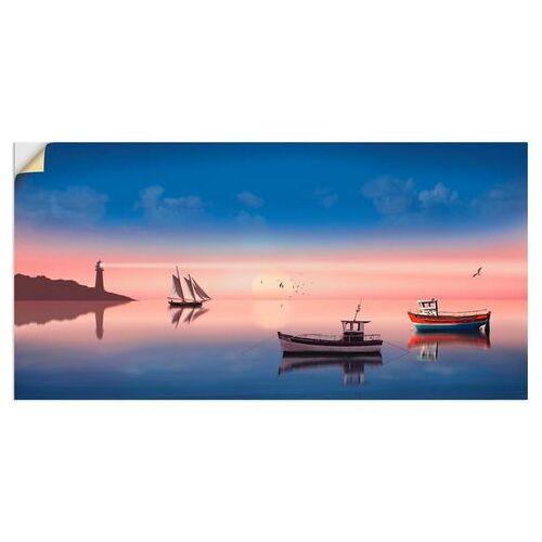Artland artprint Vissersboten in vele afmetingen & productsoorten -artprint op linnen, poster, muursticker / wandfolie ook geschikt voor de badkamer (1 stuk)  - 41.99 - blauw