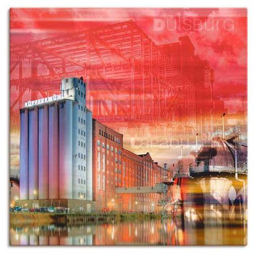 Artland artprint »Duisburg Skyline Collage I«  - 69.99 - rood