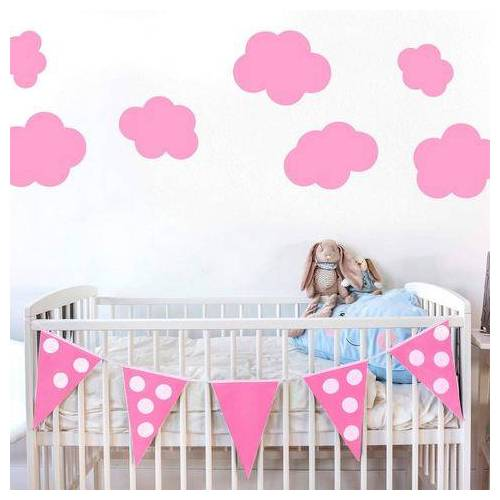 OTTO wandfolie »Wolken-Set«  - 59.99 - roze