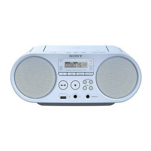 Sony Boombox ZS-PS50 Cd-speler, front-USB, MP-3  - 72.79 - blauw