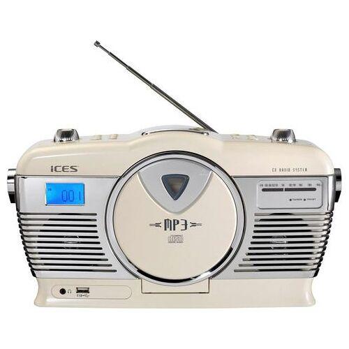 Lenco Retro-radio ISCD-33  - 74.05 - wit