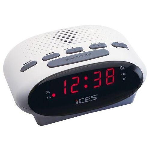 Lenco wekkerradio »iCES ICR-210  - 14.07 - wit