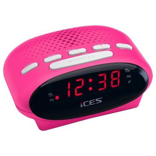 Lenco wekkerradio »iCES ICR-210  - 14.07 - roze