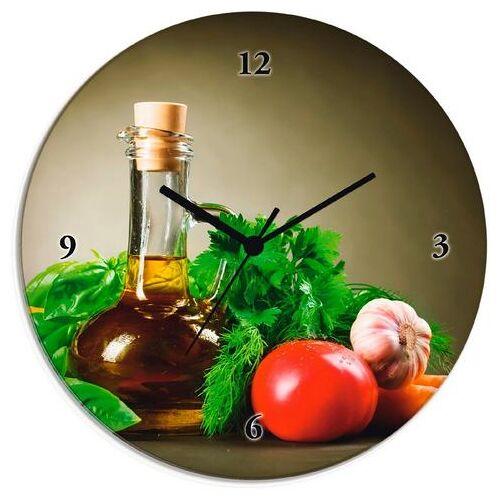Artland wandklok Gezonde groente en specerijen  - 55.99 - groen