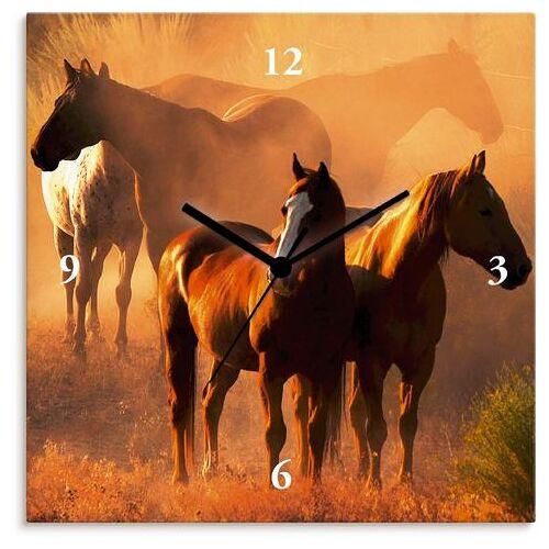 Artland wandklok Vreedzame verzameling - paarden  - 53.99 - bruin