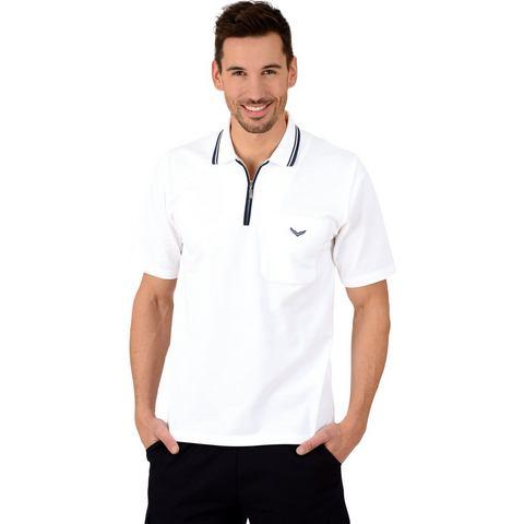 TRIGEMA Poloshirt met rits  - 62.00 - wit - Size: Medium