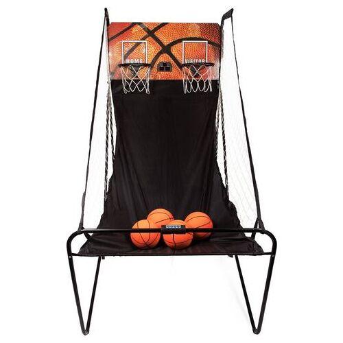 SportPlus basketbalring »SP-BS-100« (incl. 4 kleine basketballen en mini-luchtpomp, eckl. batterijen)  - 120.00 - zwart - Size: (LxBxH): 195 x 107 x 83 cm