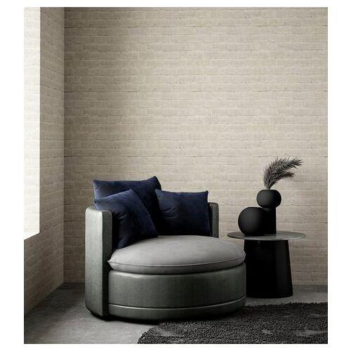 ATLANTIC home collection XXL-fauteuil ronde big fauteuil, zitting, rugleuningen sierkussen fluweel, extra zacht en behaaglijk, vulling met veren  - 529.99 - grijs - Size: imitatieleer/fluweel