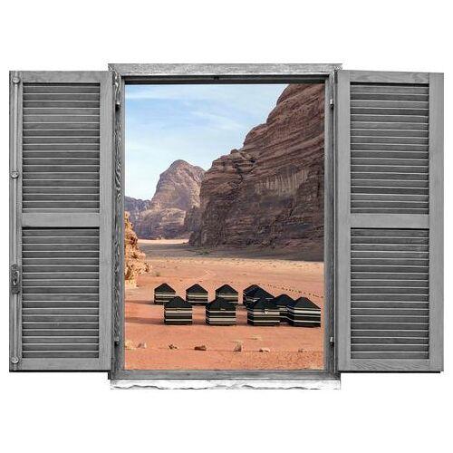queence wandfolie Hut in het woestijngebergte (1 stuk)  - 42.99 - bruin