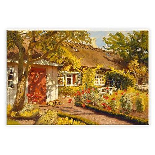 ART Wall-Art artprint op linnen Olaf Viggo Peter Langer - het tuinhuisje in 2 maten  - 149.99 - multicolor
