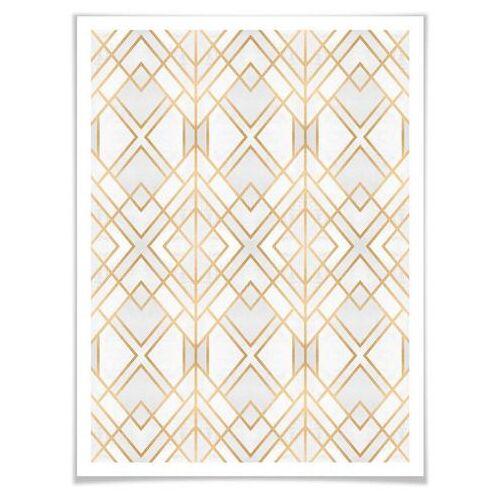 ART Wall-Art poster Gouden geometrie (1 stuk)  - 81.99 - multicolor