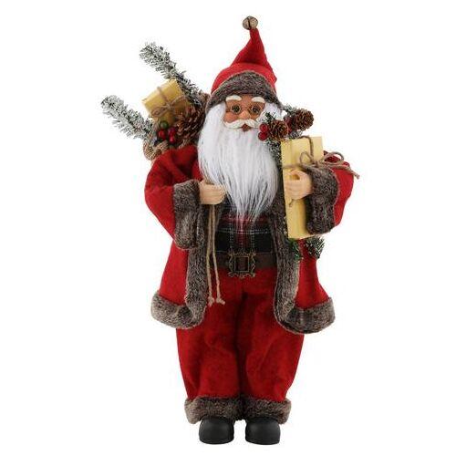 my home kerstman met zak en cadeaus, hoogte ca. 45,5 cm  - 24.99 - rood
