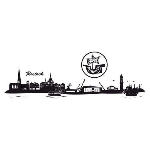 ART Wall-Art wandfolie Hansa Rostock skyline + logo (1 stuk)  - 88.99 - zwart