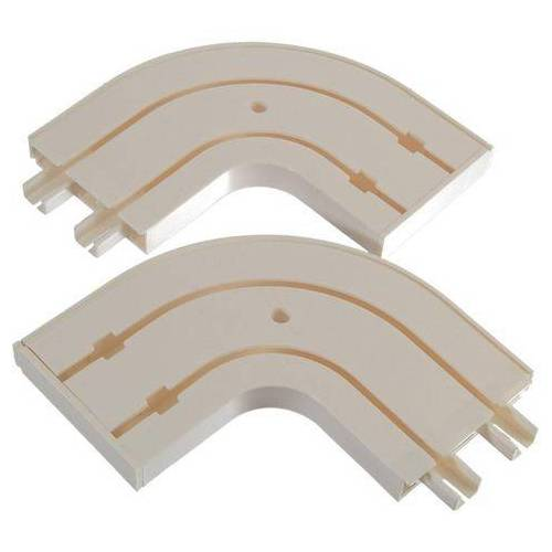 Liedeco gebogen gordijnrail wit  - 10.33 - wit