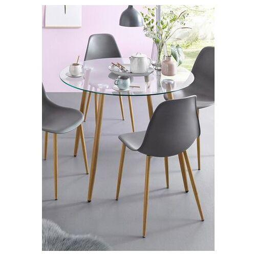 my home glazen tafel MILLER ronde eettafel met een ø van 100 cm  - 119.99 - bruin