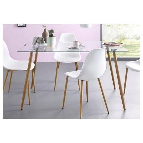my home glazen tafel MILLER Breedte 140 cm  - 129.99 - wit